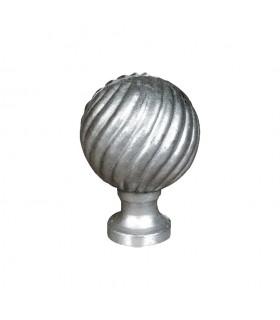 Boule de départ de rampe d'escalier ou de cloture de poteau an aluminium hauteur 115mme