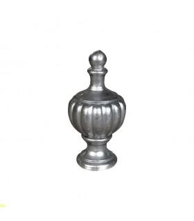 Pommeau de départ de rampe d'escalier ou pour coiffer un poteau aluminium Hauteur 128mm