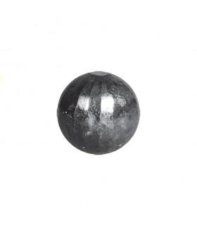 Bille boule de forge sphère pleine à facettes en acier forgé diametre 25mm