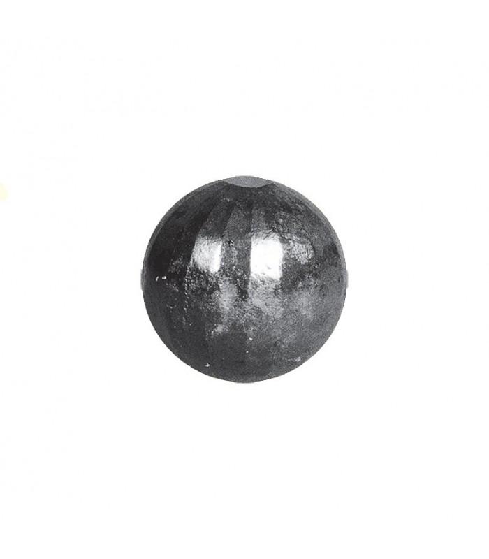Bille boule à facettes ø25mm sphère pleine à facettes en acier forgé