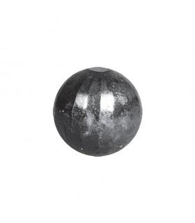 Bille boule de forge sphère pleine à facettes en acier forgé diametre 40mm
