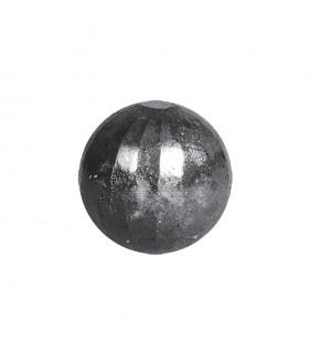 Bille boule de forge sphère pleine à facettes en acier forgé diametre 50mm