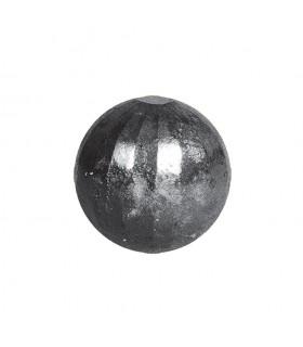 Bille boule de forge sphère pleine à facettes en acier forgé diametre 70mm