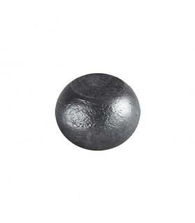 Boule bille semi sphérique méplate en acier forgé diametre 70mm 40mm sur plats