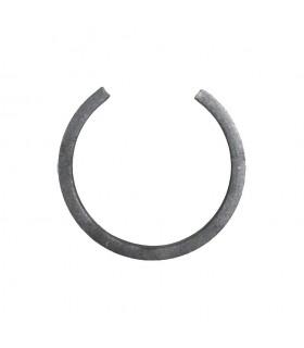 Cercle diamètre 110mm ext en plat de 16x8mm lisse en acier roulé non soudé