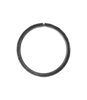 Cercle diamètre 100mm ext plat de 20x6mm en acier roulé non soudé.