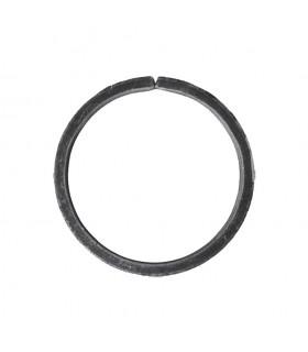 Cercle diamètre 110mm ext plat de 20x6mm en acier roulé non soudé.