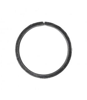Cercle diamètre 110mm ext plat de 20x8mm en acier roulé non soudé.