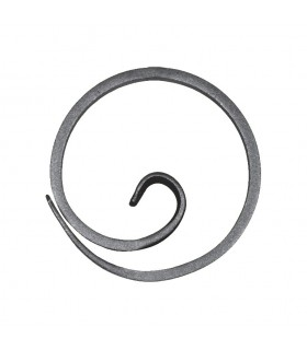 Anneau, diamètre 110mm plat de 12x6mm, cercle en forme d'escargot