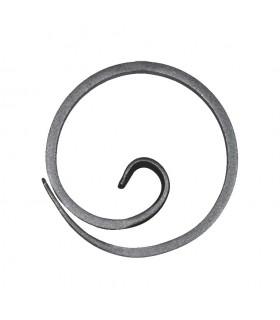 Anneau, diamètre 110mm plat de 14x6mm, cercle en forme d'escargot
