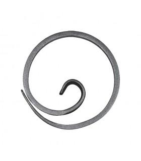 Anneau, diamètre 110mm plat de 16x6mm, cercle en forme d'escargot