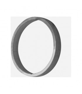 Cercle diamètre 100mm 14x5mm en aluminium pour clotures et portails