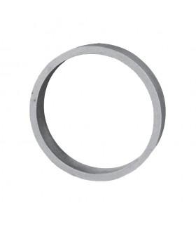 Cercle diametre 100mm 20x6mm en aluminium pour sous lisses d'escaliers