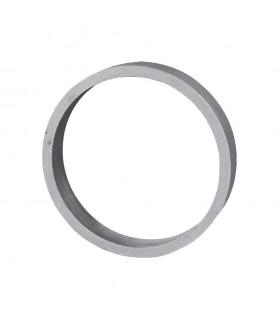 Cercle diametre 100mm 12x5mm en aluminium fermé pour clotures et escaliers