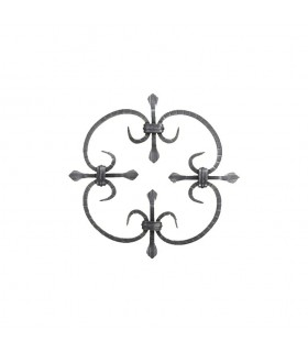 Panneau décoratif 250x250mm carré de 8x8mm en fer forgé soudé