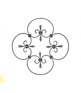 Panneau décoratif 380x380mm plat de 10x5mm