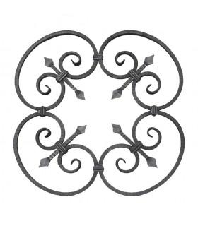 Panneau décoratif 600x600mm carré de 12x12mm en acier roulé et soudé