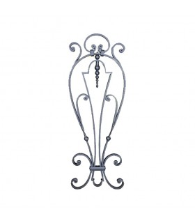 Panneau décoratif 850x300mm plat de 16x10mm en acier grenaillé pour métallerie