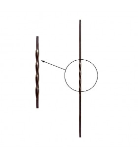Balustres torsadés 880mm carré de 12x12mm pour escaliers ou garde-corps