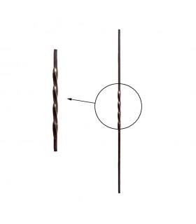 Balustres torsadés 1000mm carré de 12x12mm pour balustrades et clôtures