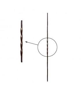 Balustres torsadés 1100mm carré de 12x12mm pour clôtures et balustrades