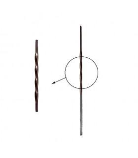 Balustres torsadés 1000mm carré de 16x16mm pour poteaux intermédiaires