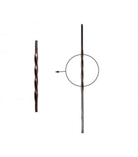 Balustres torsadés 1200mm carré de 16x16mm pour poteau intermédiaire