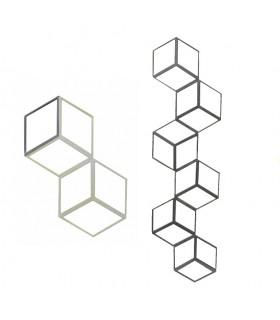 Panneau décoratif 1000x274mm carré 12x12mm effet 3D en acier forgé