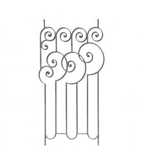 Panneau décoratif 1000x580mm plat 14x8mm Art Déco acier forgé