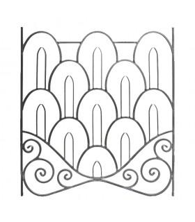 Panneau décoratif 1000x900mm carré 12x12mm art Déco fer forgé