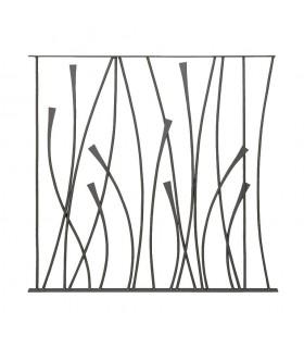 Panneau décoratif 970x1000mm rond ø12mm design courbe acier forgé