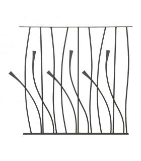 Panneau décoratif 970x1000mm rond ø12mm design courbe en acier forgé