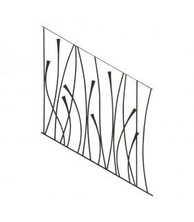 Panneau décoratif 970x1000mm rond ø12mm pour rampant d'escalier design courbebe L970x1000mm