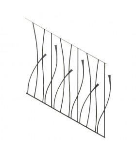 Panneau décoratif 970x1000mm rond ø12mm pour rampant d'escalier design courbe