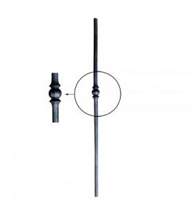 Poteaux acier forgé 1200mm rond de ø25mm avec motif central forgé