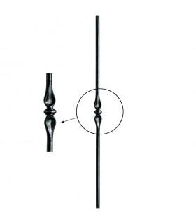 Poteaux acier forgé 1200mm rond de ø25mm motif central estampé