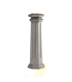 Bases de poteaux 656mm pour fût ø100mm aluminium base octogonale