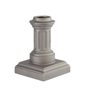 Bases de poteaux 325mm pour fût ø80mm aluminium base carrée