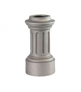 Bases de poteaux 280mm pour fût ø80mm aluminium base circulaire