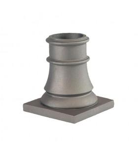 Bases de poteaux 240mm pour fût ø80mm aluminium socle carré