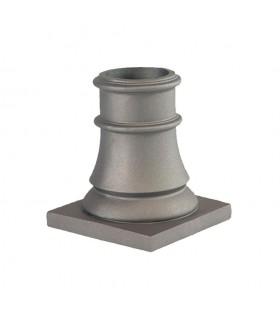 Embase de poteau 240mm pour fût ø100mm aluminium base carrée