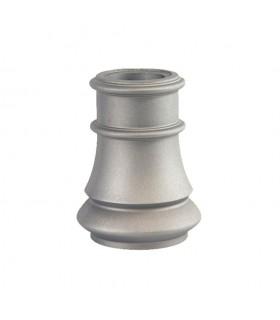 Embase de poteau 240mm pour fût ø80mm aluminium avec base circulaire