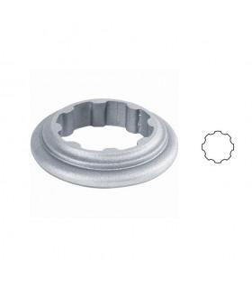 Bague aluminium pour tube cannelé Ø80mm de poteau modulaire