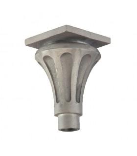 Base ou chapiteau 235mm pour tube ø80mm cannelé en fonte d' aluminium
