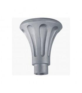 Base ou chapiteau 195mm pour tube ø80mm aluminium cannelé pour poteau