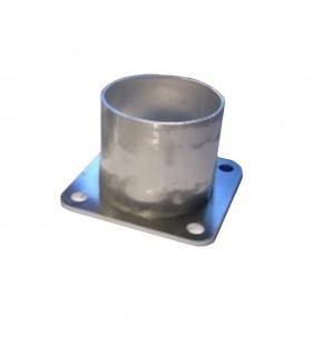 Fixation basse 70mm pour tube aluminium Ø80mm pour poteau modulaire