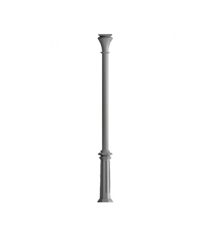 Poteaux colonnes 3235mm fût ø80mm lisses en fonte d'aluminium