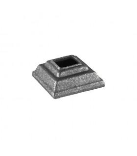 Cache scellement 30x35mm carré 12x12mm acier forgé
