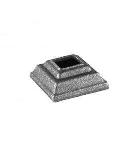 Caches scellements 40x40mm carré 14x14mm en acier forgé pour balustres
