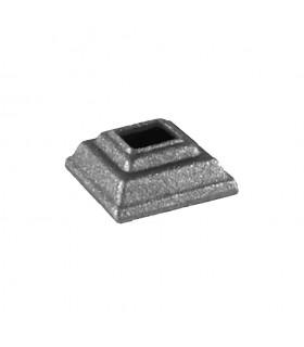 Caches scellements 40x40mm carré 16x16mm en acier forgé pour barreaux